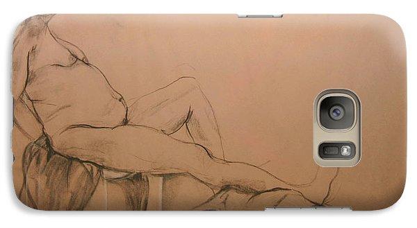 Galaxy Case featuring the digital art Lounging Nude by Gabrielle Schertz