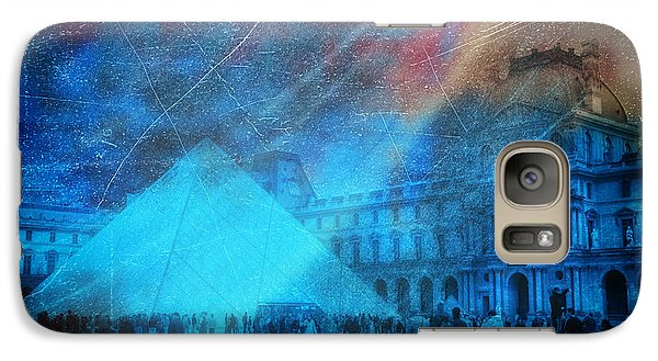 Galaxy Case featuring the photograph Louvre Museum by James Bethanis