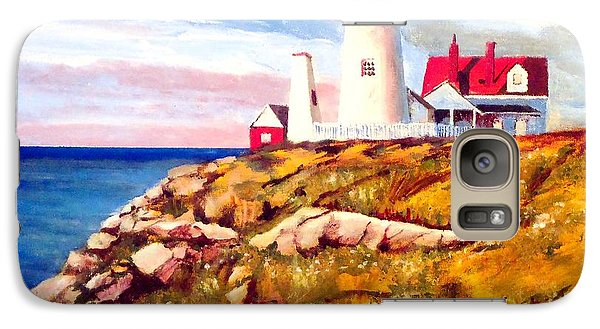 Galaxy Case featuring the painting Love A White Lighthouse by Jim Phillips