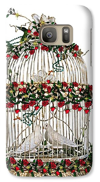 Galaxy Case featuring the digital art Love And Roses by Mary Anne Ritchie