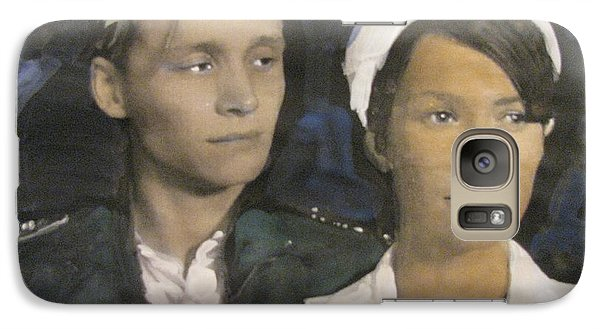 Galaxy Case featuring the painting Love And War by Vikram Singh