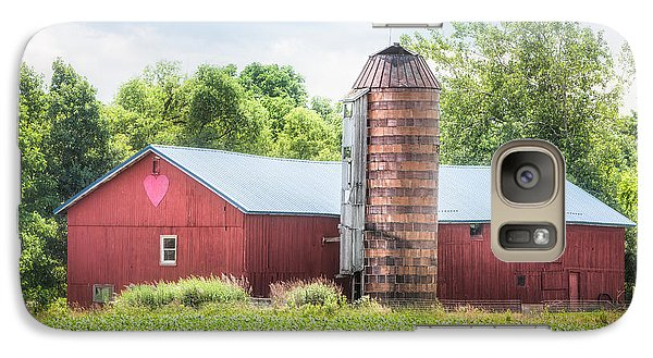 Galaxy Case featuring the photograph Love Barn by Gary Heller