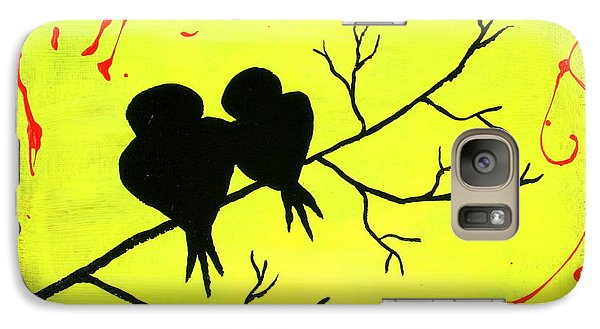 Galaxy Case featuring the painting Love Birds Art by Bob Baker