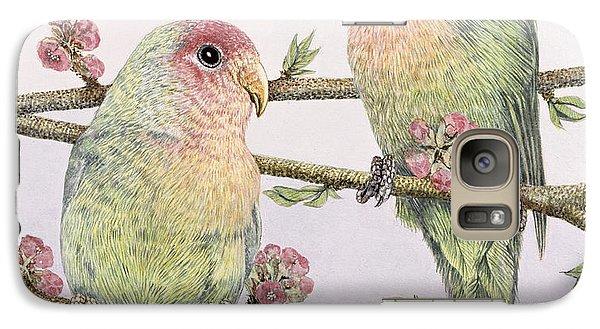 Parakeet Galaxy S7 Case - Love Birds by Pat Scott