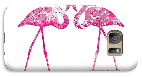Love Flamingos Galaxy S7 Case by Watercolor Girl