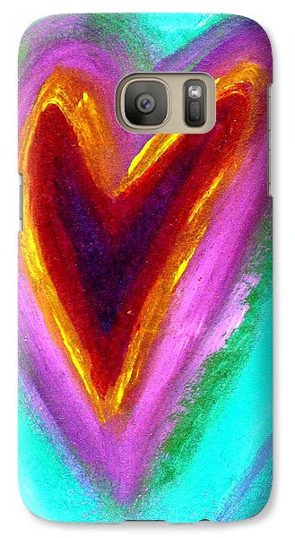 Galaxy Case featuring the painting Love From The Heart by Bob Baker