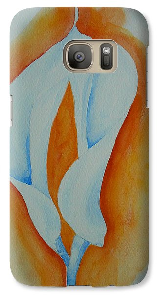 Galaxy Case featuring the painting Calla Lilies by Geeta Biswas