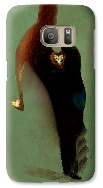 Galaxy Case featuring the digital art Love by Haleh Mahbod