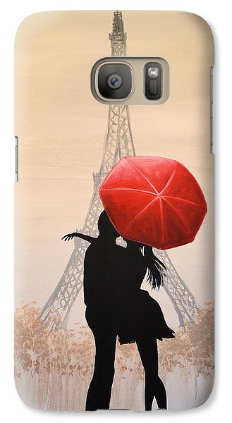 Galaxy Case featuring the painting Love In Paris by Amy Giacomelli