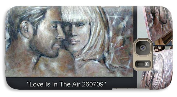 Galaxy Case featuring the painting Love Is In The Air 260709 Comp by Selena Boron
