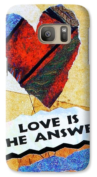 Galaxy Case featuring the painting Love Is The Answer Collage by Bob Baker