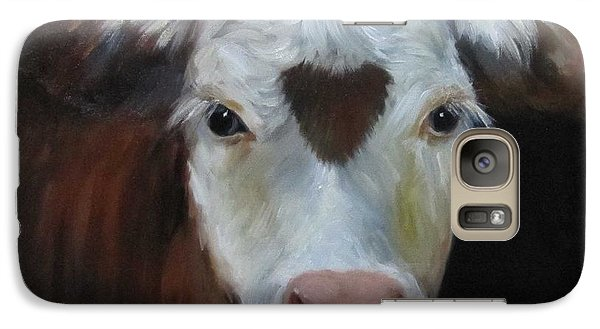 Galaxy Case featuring the painting Love Love Me Do by Cheri Wollenberg