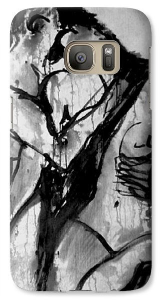 Galaxy Case featuring the painting Love Me Tender by Jarmo Korhonen aka Jarko