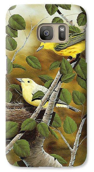 Warbler Galaxy S7 Case - Love Nest by Rick Bainbridge