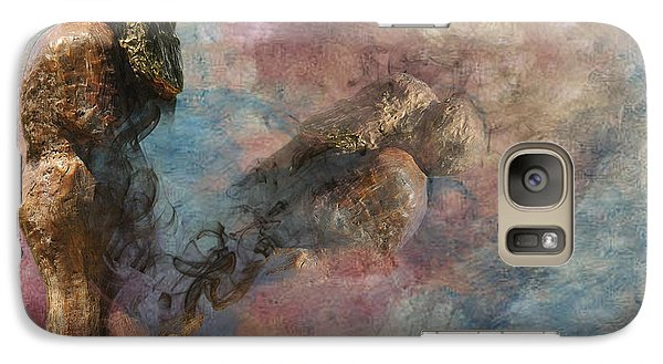 Galaxy Case featuring the digital art Love Never Dies by Davina Washington