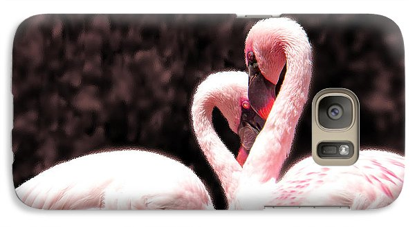 Galaxy Case featuring the photograph Love Of The Flamingos by Gena Weiser