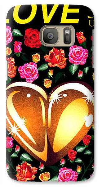 Galaxy Case featuring the digital art Love Stamp by P Dwain Morris
