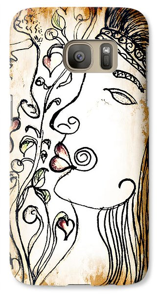 Galaxy Case featuring the drawing Love Tangled by Barbara Giordano