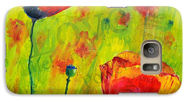 Galaxy Case featuring the painting Love The Poppies by Lisa Fiedler Jaworski