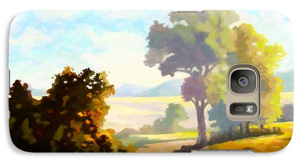 Galaxy Case featuring the painting Lovely Day by Anthony Mwangi