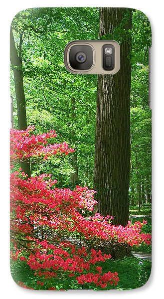 Galaxy Case featuring the photograph Lovely Forest Scene by Jeanette Oberholtzer