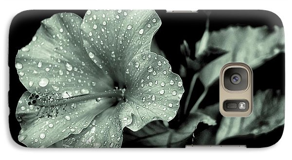 Galaxy Case featuring the photograph Lovely Hibiscus In Monochrome by Beth Akerman
