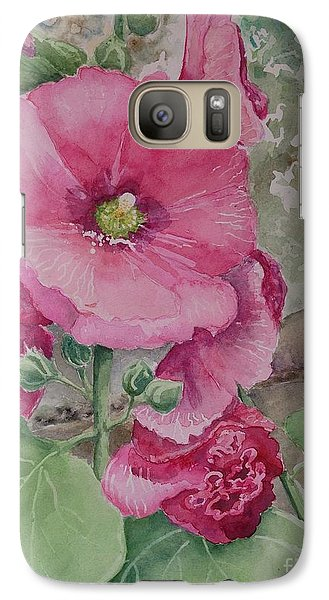 Galaxy Case featuring the painting Lovely Hollies by Marilyn Zalatan