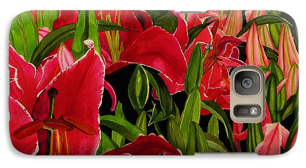 Galaxy Case featuring the painting Lovely Lillies by Debi Singer