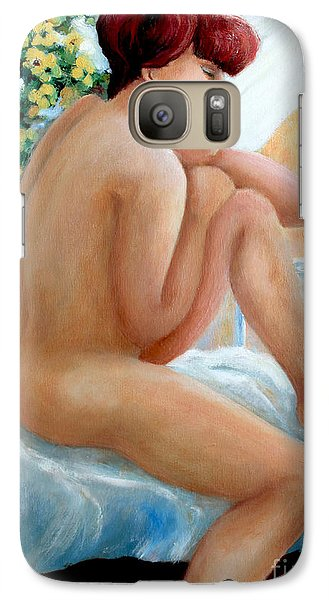 Galaxy Case featuring the painting Lovely Morning by Marta Styk