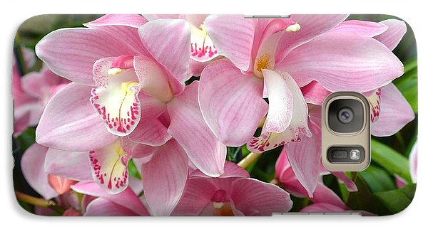 Galaxy Case featuring the photograph Cymbidium Pink Orchids by Jeannie Rhode