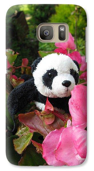 Galaxy Case featuring the photograph Lovely Pink Flower by Ausra Huntington nee Paulauskaite