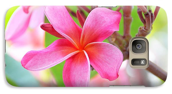 Galaxy Case featuring the photograph Lovely Plumeria by David Lawson