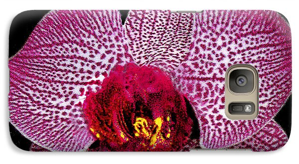 Galaxy Case featuring the photograph Lovely Red Spotted Orchid by Merton Allen