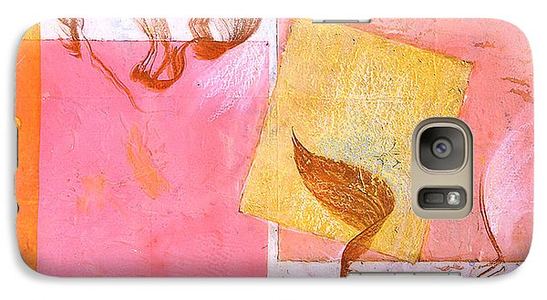 Galaxy Case featuring the painting Lovers Dance 2 In Sienna And Pink  by Asha Carolyn Young