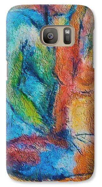 Galaxy Case featuring the painting Lovers by Dragica  Micki Fortuna