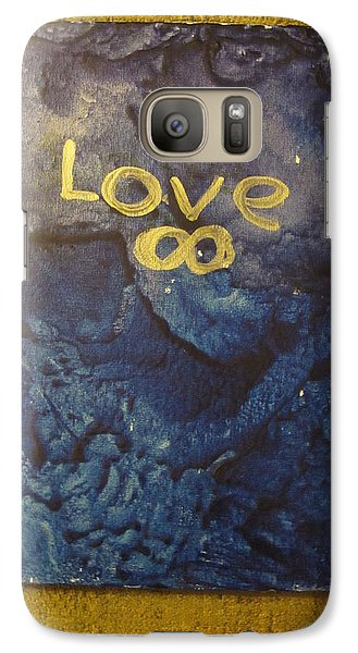 Galaxy Case featuring the painting Loves Blue Mood by Lawrence Christopher