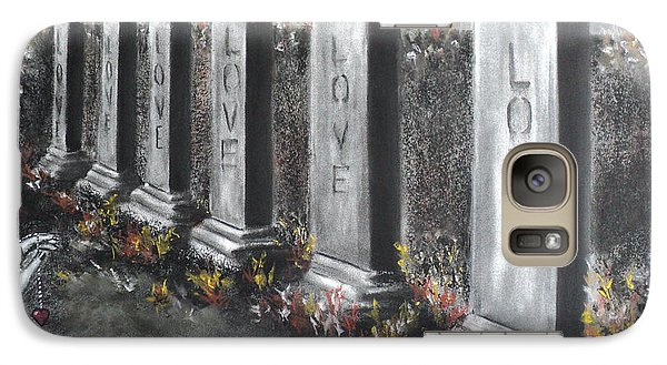 Galaxy Case featuring the drawing Loves Silent Echoes by Carla Carson