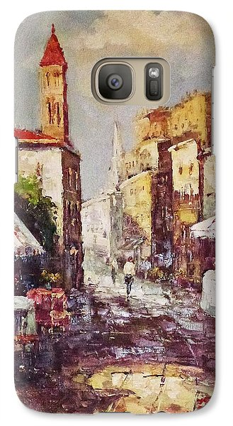 Galaxy Case featuring the painting Loving Old Towns by AmaS Art