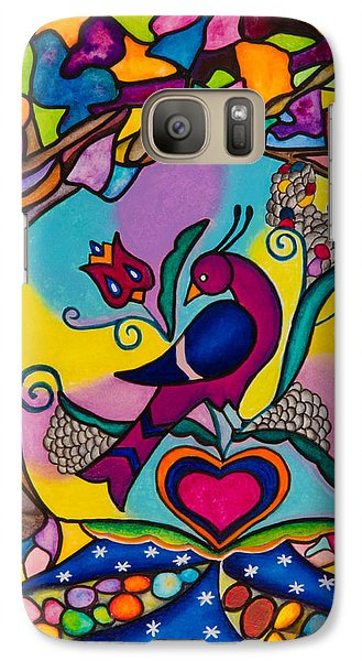 Galaxy Case featuring the painting Loving The World by Lori Miller