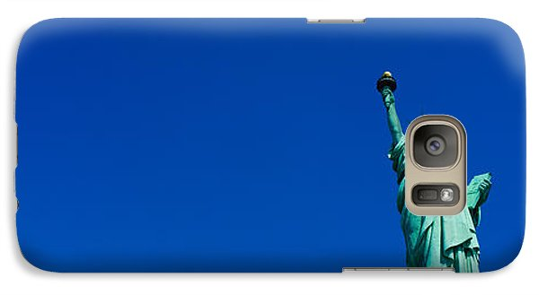 Statue Of Liberty Galaxy S7 Case - Low Angle View Of Statue Of Liberty by Panoramic Images