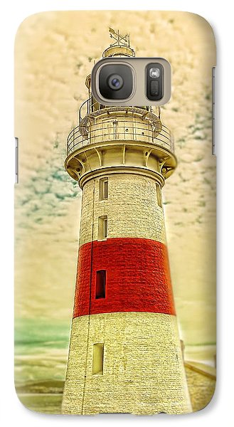 Galaxy Case featuring the photograph Low Head Lighthouse by Wallaroo Images
