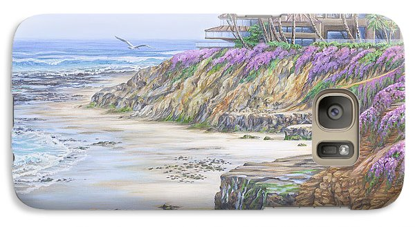 Galaxy Case featuring the painting Low Tide Solana Beach by Jane Girardot