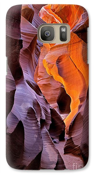 Galaxy Case featuring the photograph Lower Antelope Glow by Jerry Fornarotto