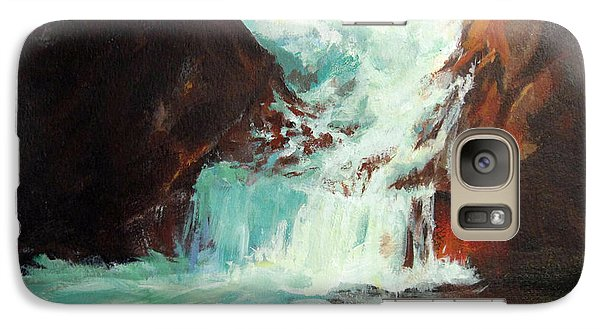 Galaxy Case featuring the painting Lower Chasm Falls by Carol Hart
