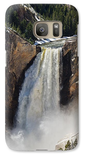 Galaxy Case featuring the photograph Lower Falls Of The Yellowstone by Sue Smith