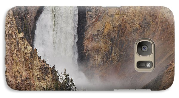 Galaxy Case featuring the photograph Lower Falls - Yellowstone by Mary Carol Story