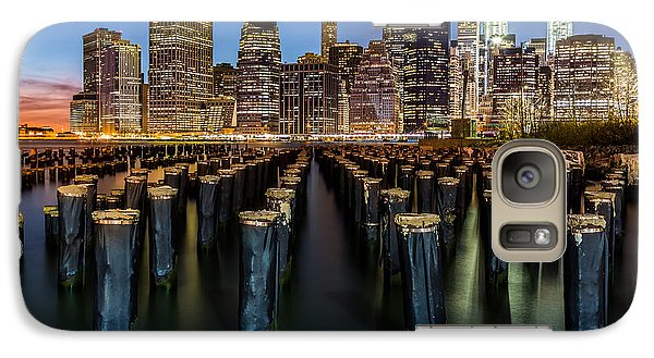 Galaxy Case featuring the photograph Lower Manhattan by Mihai Andritoiu