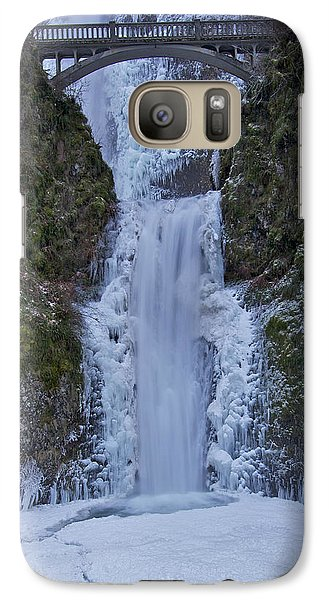 Galaxy Case featuring the photograph Lower Multnomah Falls 120813a by Todd Kreuter