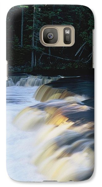 Galaxy Case featuring the photograph Lower Tahquamenon Falls by Randy Pollard