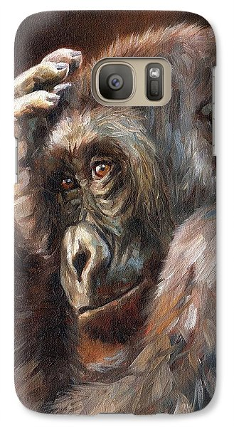 Gorilla Galaxy S7 Case - Lowland Gorilla by David Stribbling
